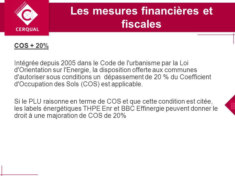 Les mesures financières et fiscales Exonération de charge TFPB Code général des Impôts : Article 1384 A Article 1 : Les constructions neuves affectées