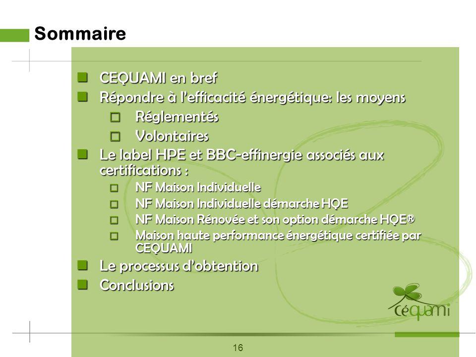 16 février 2010 Réglementations, Labels et Certifications en Maisons individuelles Franck COTTET-EMARD Responsable Développement