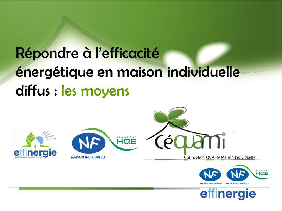 18 CEQUAMI, organisme certificateur Activités >> pour la maison individuelle existante (depuis octobre 2009) Délivrer la certification NF Maison Rénov