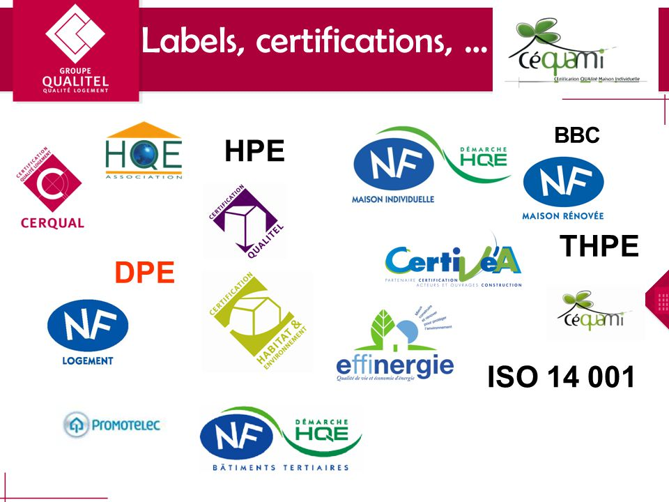 HPE THPE DPE ISO 14 001 Labels, certifications, … BBC