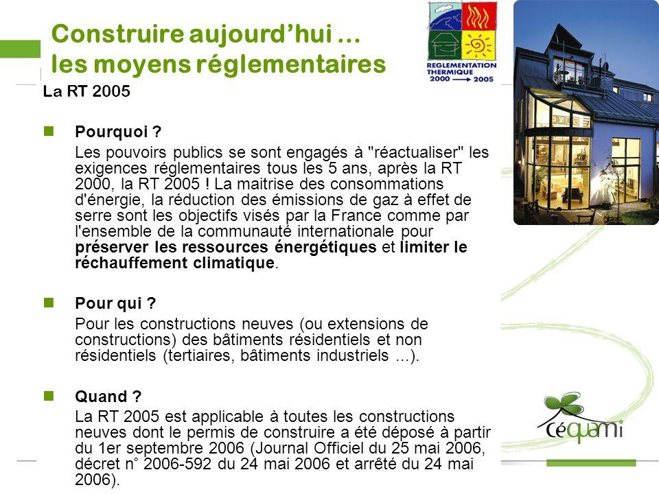 21 2008 21 Le législateur : les moyens réglementaires RT 2005 : obligatoire DPE / Etiquette énergétique : Obligatoire depuis le 1 er juillet 2007