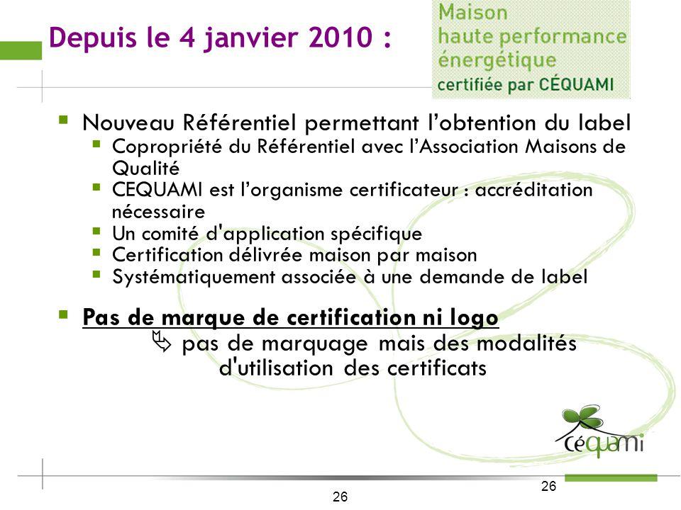 25 Le sens de lavenir : Certification et labels associés BBC