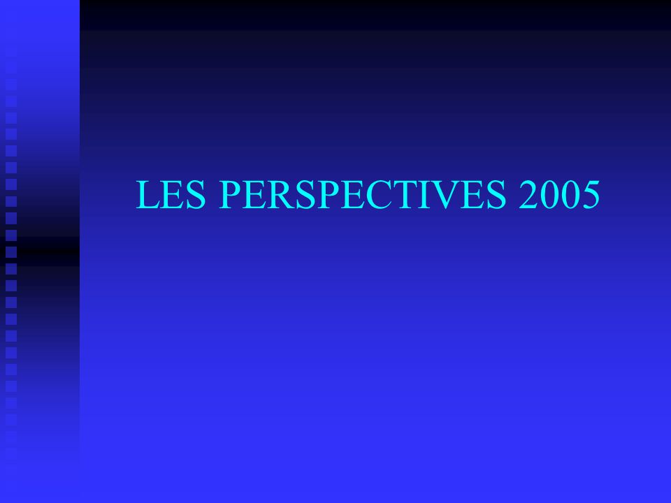 LES PERSPECTIVES 2005