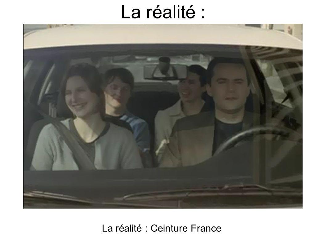 La réalité : La réalité : Ceinture France