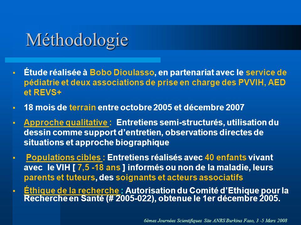 6èmes Journées Scientifiques Site ANRS Burkina Faso, 3 -5 Mars 2008 Méthodologie Étude réalisée à Bobo Dioulasso, en partenariat avec le service de pé