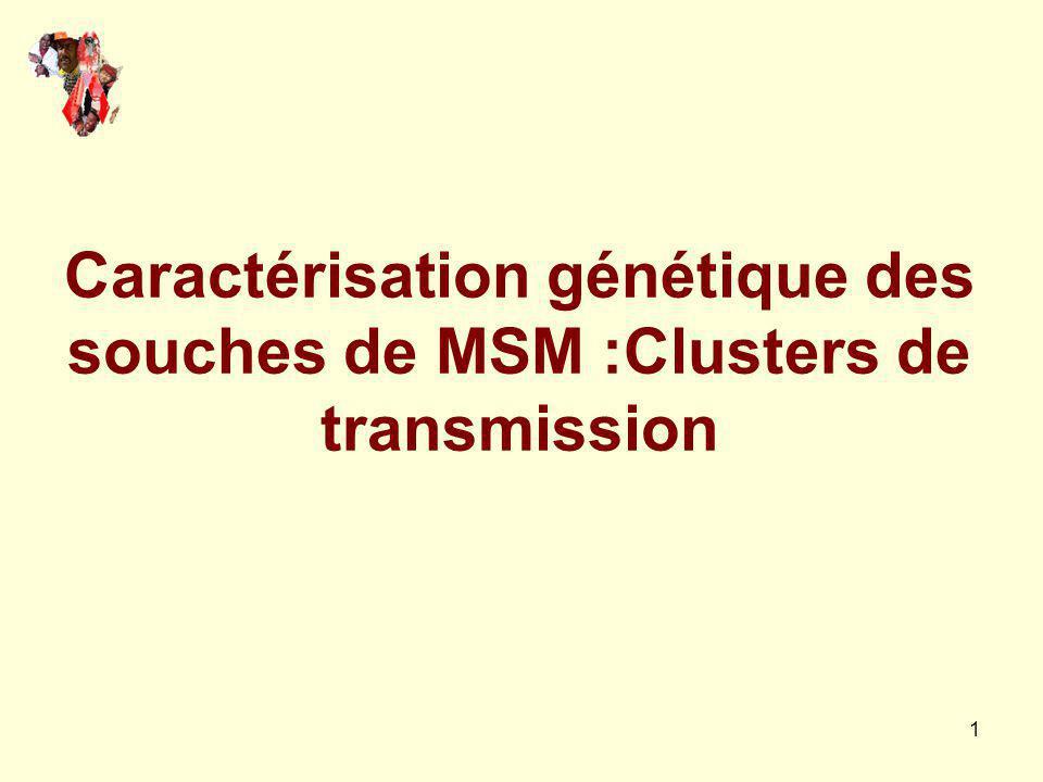 1 Caractérisation génétique des souches de MSM :Clusters de transmission