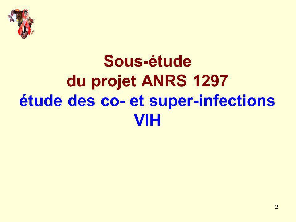 2 Sous-étude du projet ANRS 1297 étude des co- et super-infections VIH