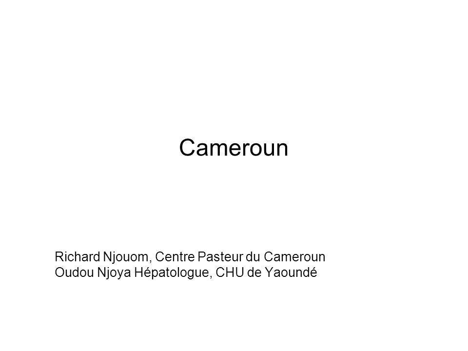 Ntem 1997 Pop: 408 (14,4%) 40 010203040506070 0 20 40 60 80 100 Mekas 1993 Pop: 644 (16,7%) 010203040506070 0 20 40 60 80 100 Yokadouma 1994 Pop: 646 (3,3 %) 010203040506070 0 20 40 60 80 100 Nditam 1994 Pop: 368 (2,9%) 010203040506070 0 20 40 60 80 100 HCV sero-prevalence in Cameroun Nerrienet et al.