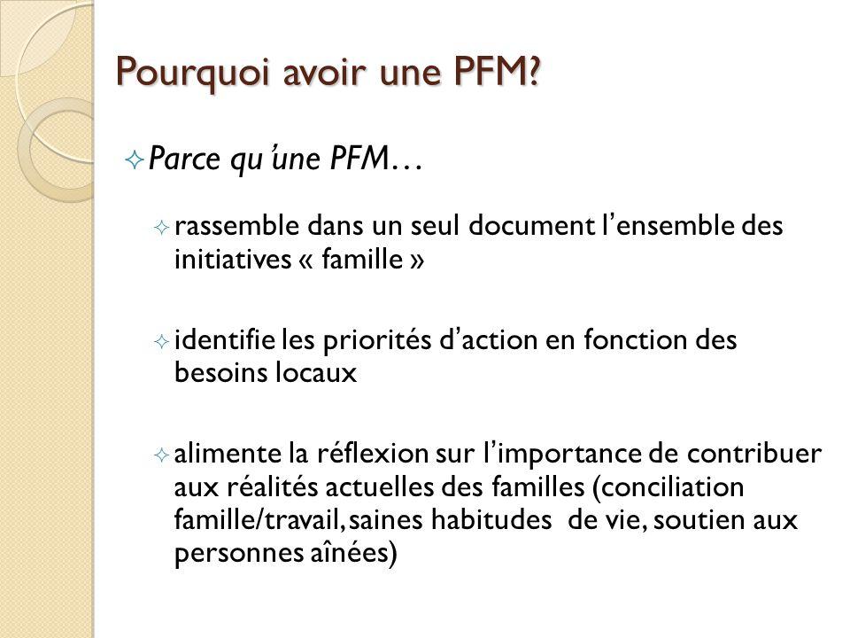 Pourquoi avoir une PFM.