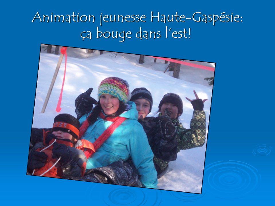 Animation jeunesse Haute-Gaspésie: ça bouge dans lest.
