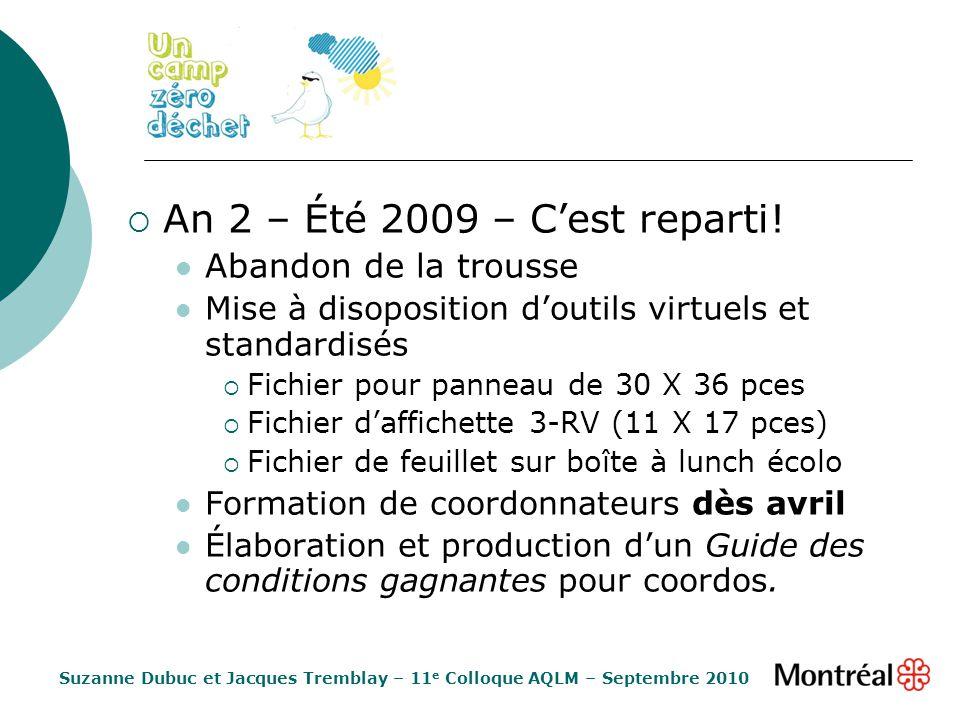 An 2 – Été 2009 – Cest reparti.