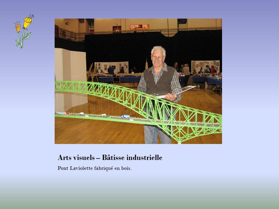 Arts visuels – Bâtisse industrielle Pont Laviolette fabriqué en bois.