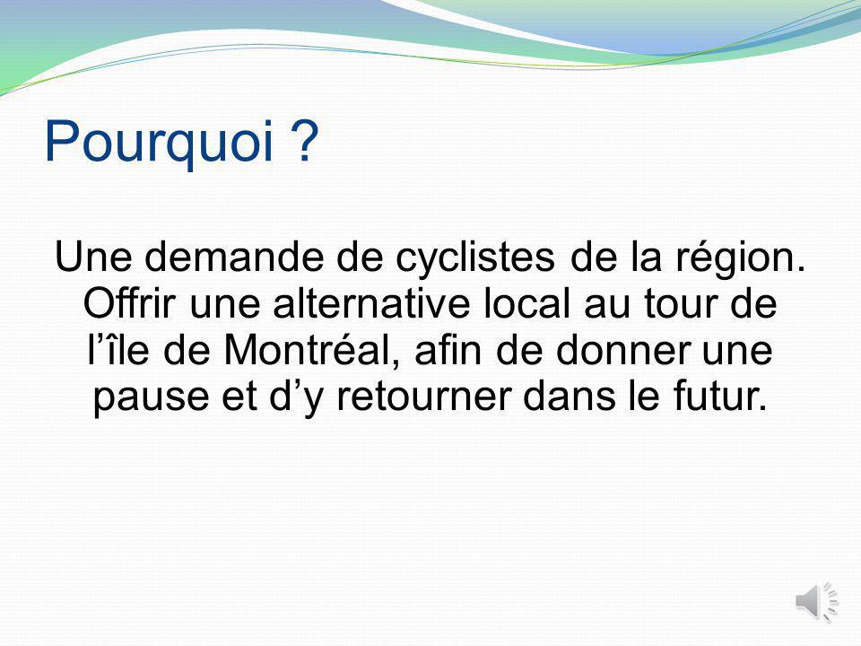 Pourquoi .Une demande de cyclistes de la région.