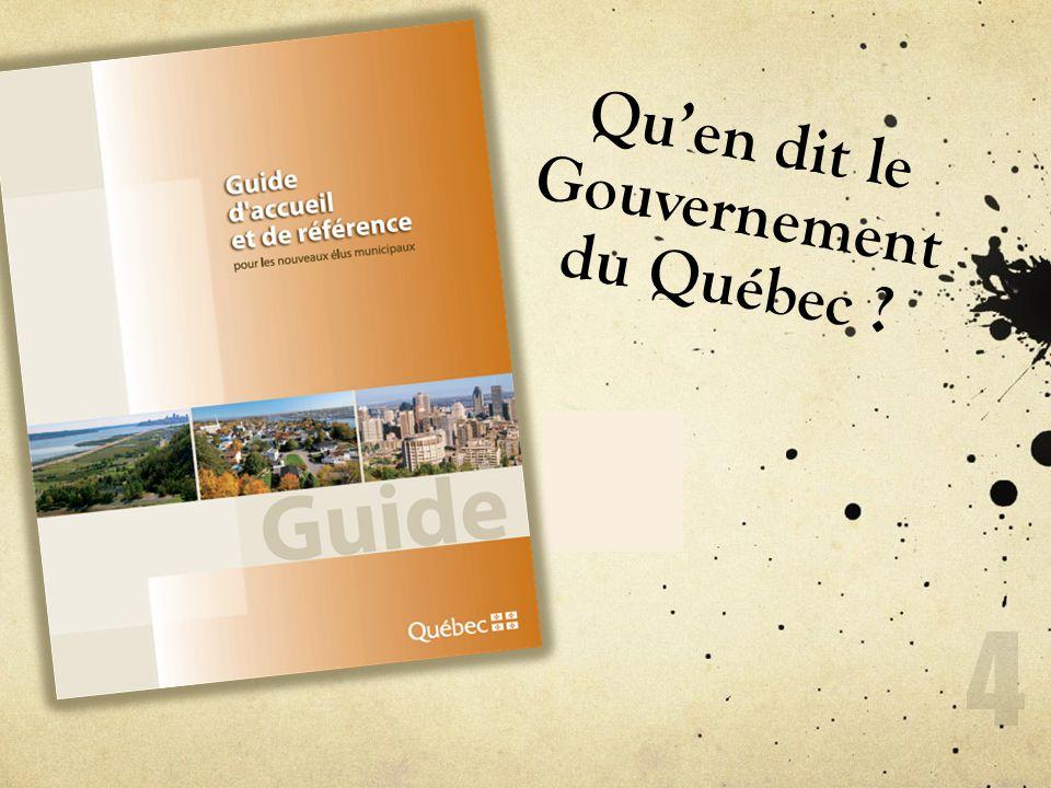 Quen dit le Gouvernement du Québec ? 4