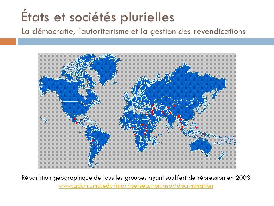 Distribution électorale des minorités (2000) Source: Éric Verdeil, Les territoires du vote au Liban http://mapp emonde.mg m.fr/num6/a rticles/art05 209.html