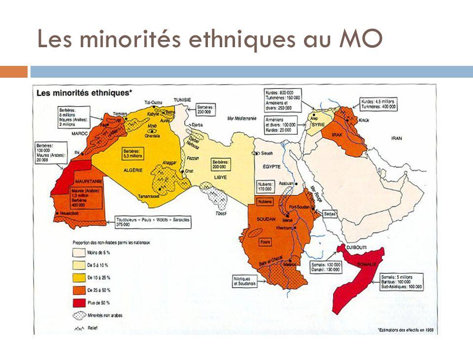 Les minorités ethniques au MO