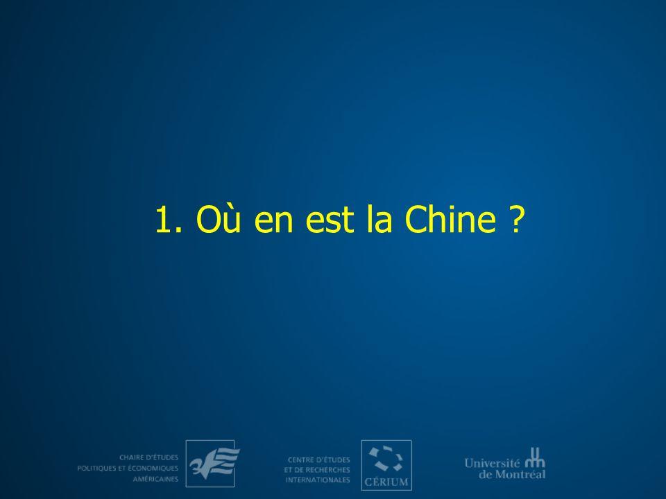 1. Où en est la Chine