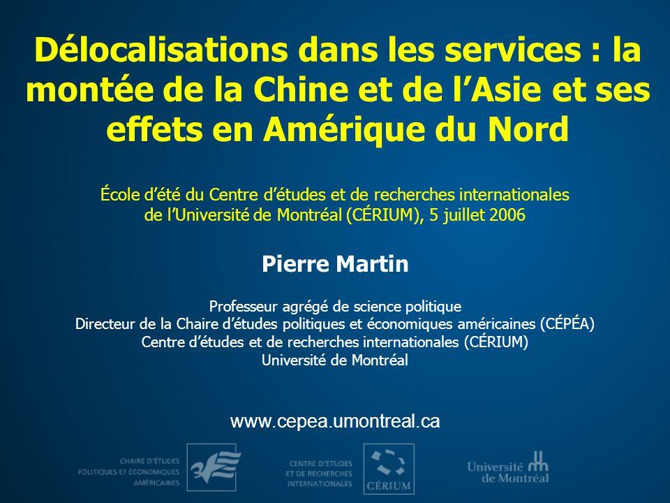 Cinq questions sur les délocalisations dans les services 1.