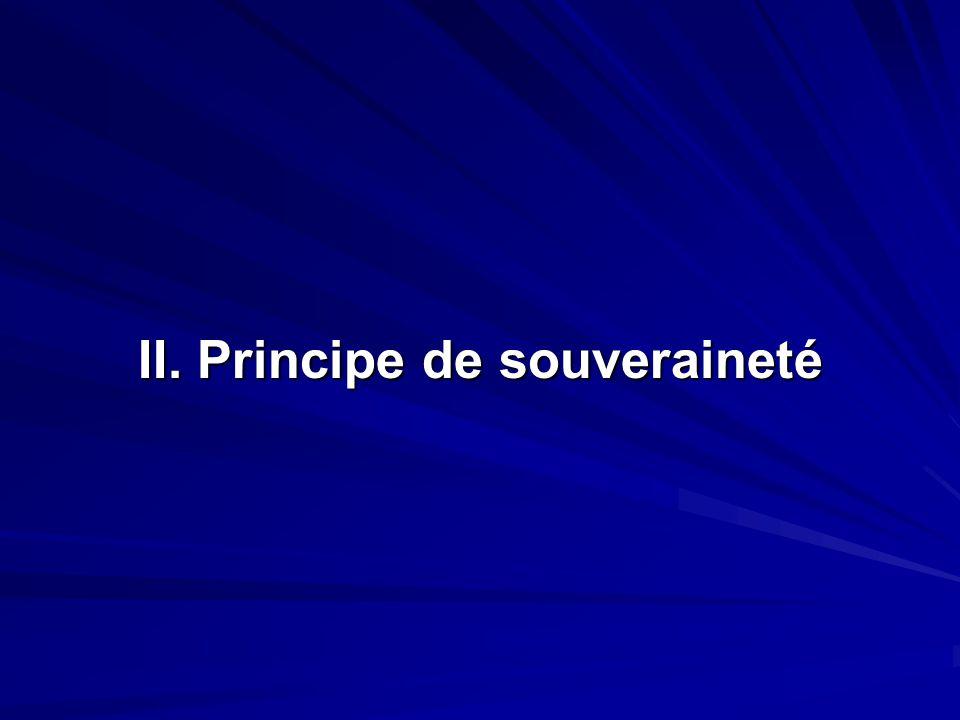 II. Principe de souveraineté