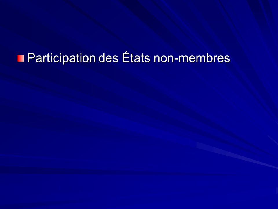 Participation des États non-membres