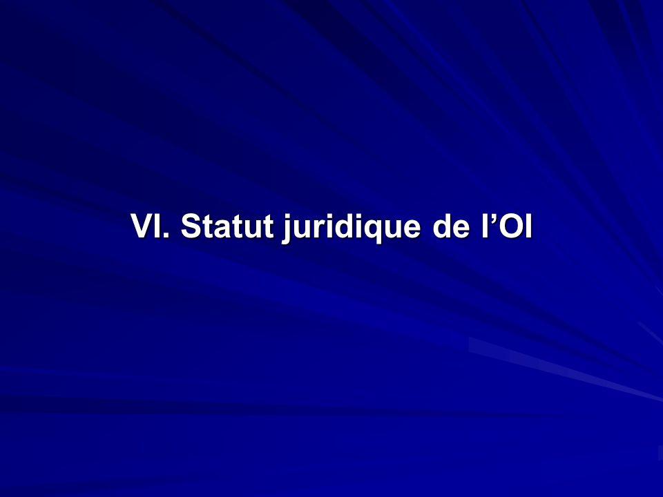 VI. Statut juridique de lOI