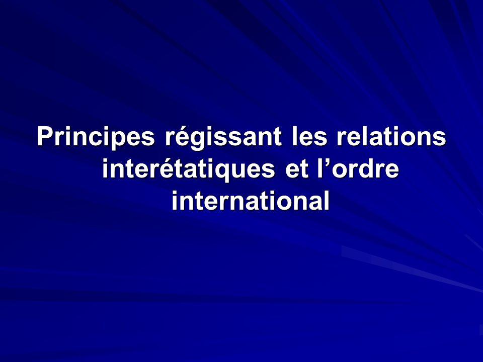 Création, composition et fonctionnement des organisations internationales