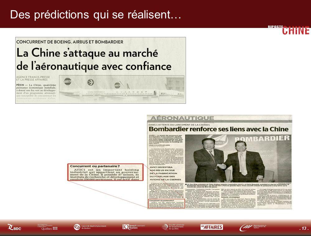 . 13. Des prédictions qui se réalisent…