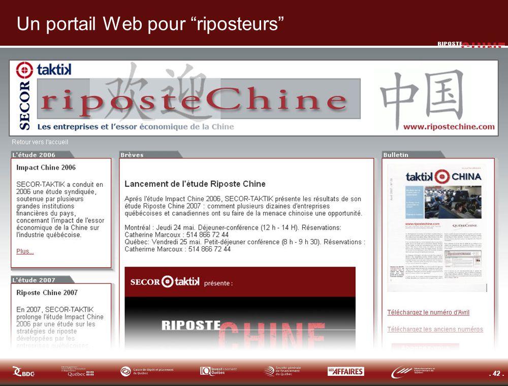 . 42. Un portail Web pour riposteurs