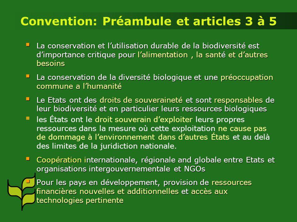 La conservation et lutilisation durable de la biodiversité est dimportance critique pour lalimentation, la santé et dautres besoins La conservation et
