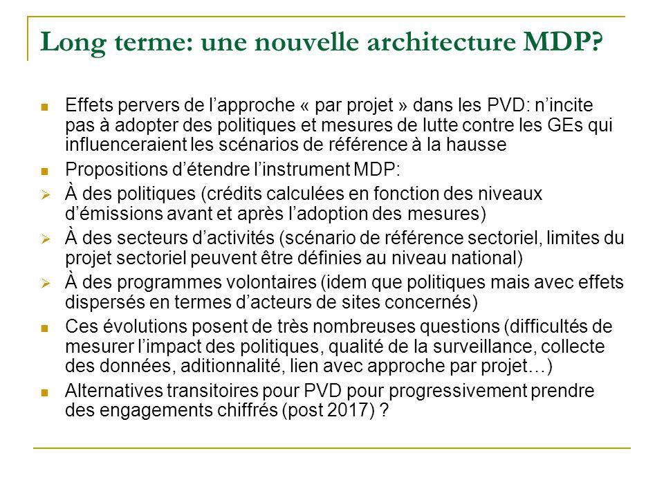 Long terme: une nouvelle architecture MDP.
