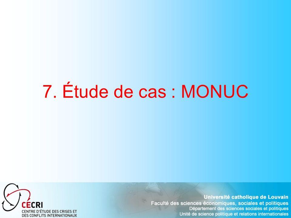 7. Étude de cas : MONUC