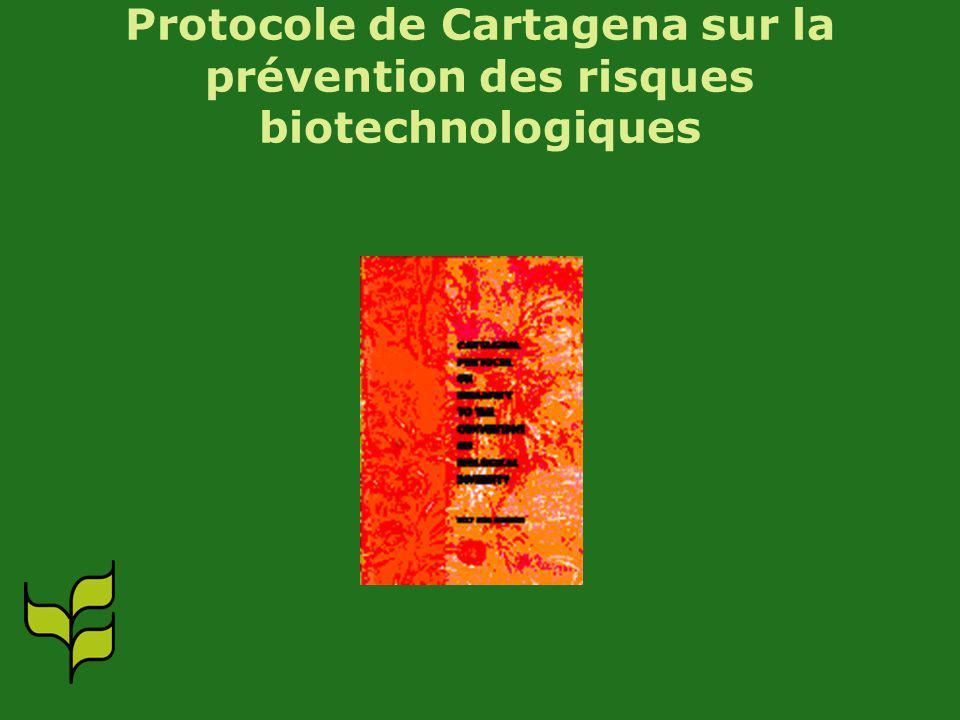 Protocole de Cartagena sur la prévention des risques biotechnologiques