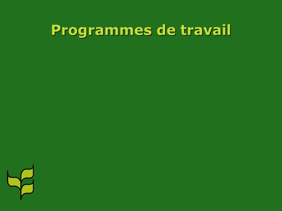 Programmes de travail