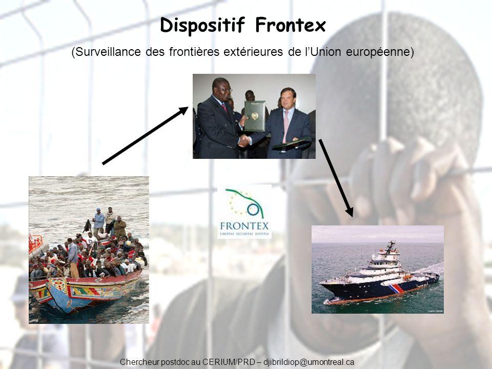 Chercheur postdoc au CERIUM/PRD – djibrildiop@umontreal.ca Dispositif Frontex (Surveillance des frontières extérieures de lUnion européenne)