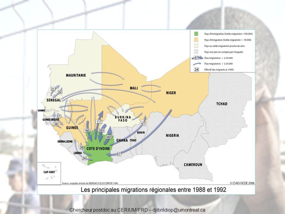 Chercheur postdoc au CERIUM/PRD – djibrildiop@umontreal.ca Ce dispositif vise à contrôler l émigration clandestine à partir dAfrique.