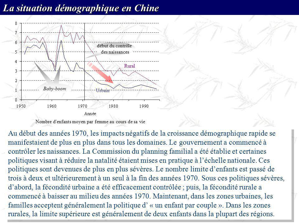 Au début des années 1970, les impacts négatifs de la croissance démographique rapide se manifestaient de plus en plus dans tous les domaines. Le gouve