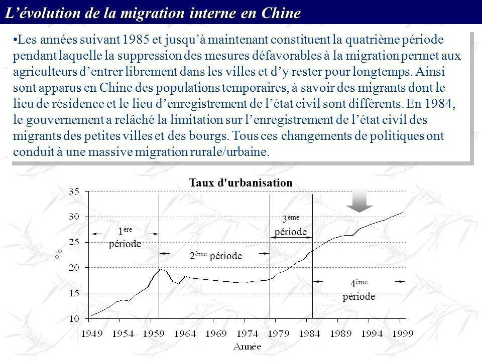 Les années suivant 1985 et jusquà maintenant constituent la quatrième période pendant laquelle la suppression des mesures défavorables à la migration