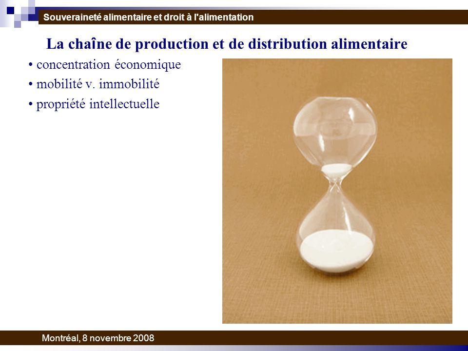 La cha î ne de production et de distribution alimentaire concentration économique mobilité v.