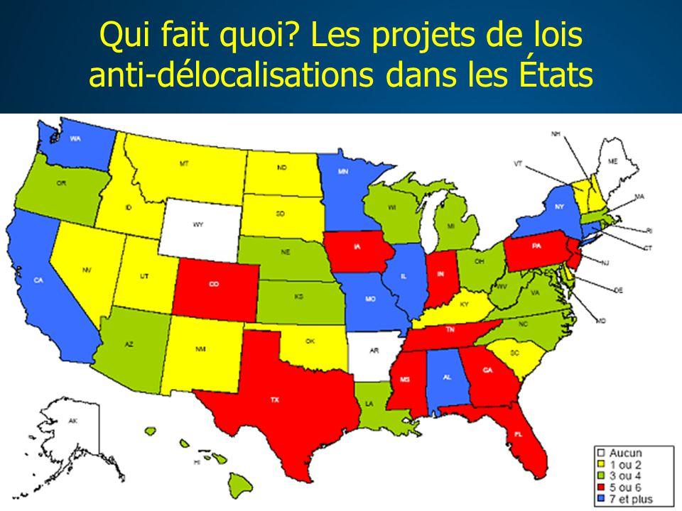 Qui fait quoi? Les projets de lois anti-délocalisations dans les États