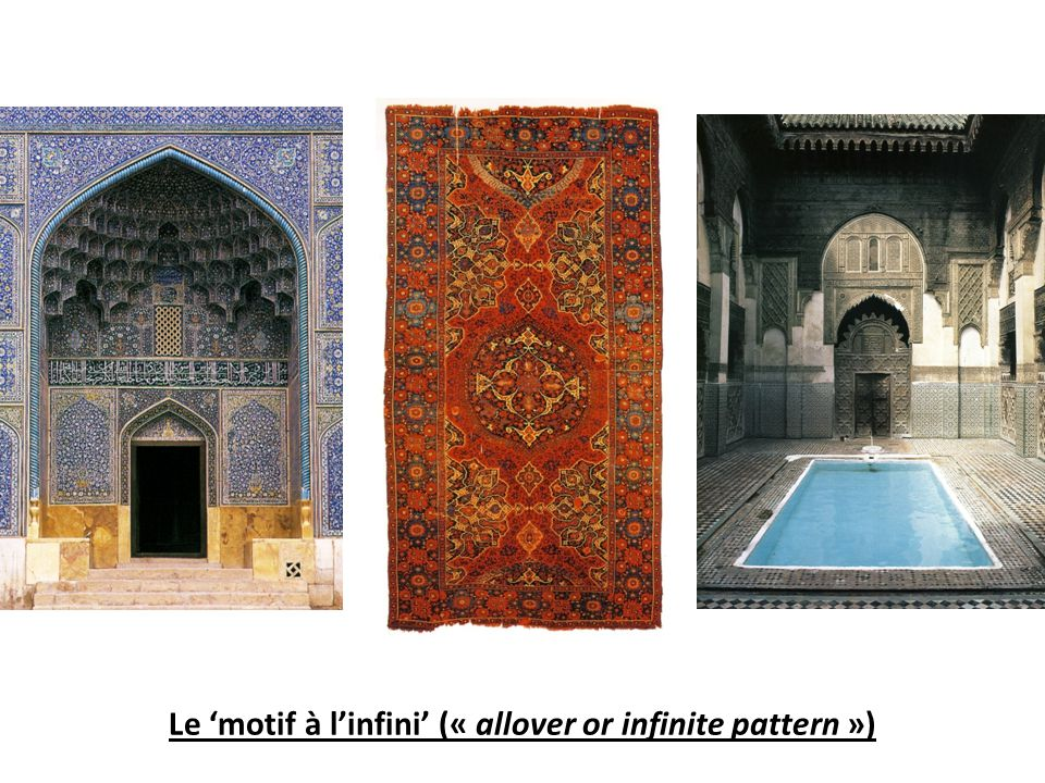 Le motif à linfini (« allover or infinite pattern »)