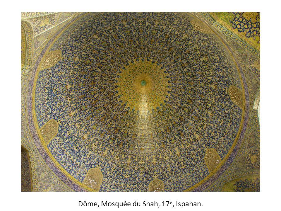 Dôme, Mosquée du Shah, 17 e, Ispahan.