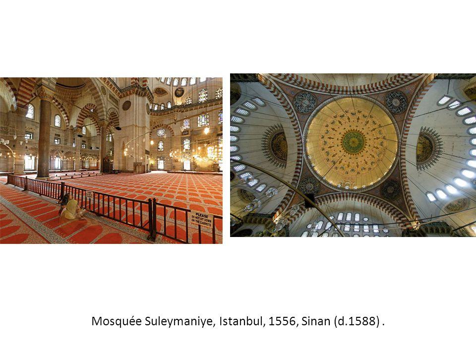 Mosquée Suleymaniye, Istanbul, 1556, Sinan (d.1588).