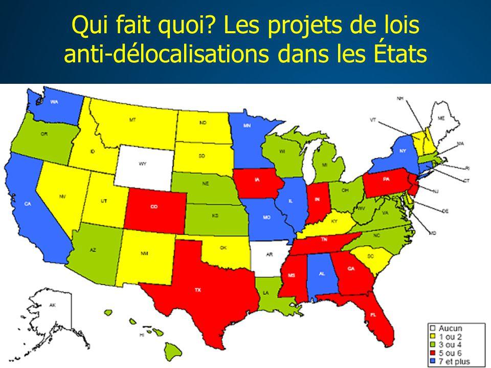 Qui fait quoi Les projets de lois anti-délocalisations dans les États