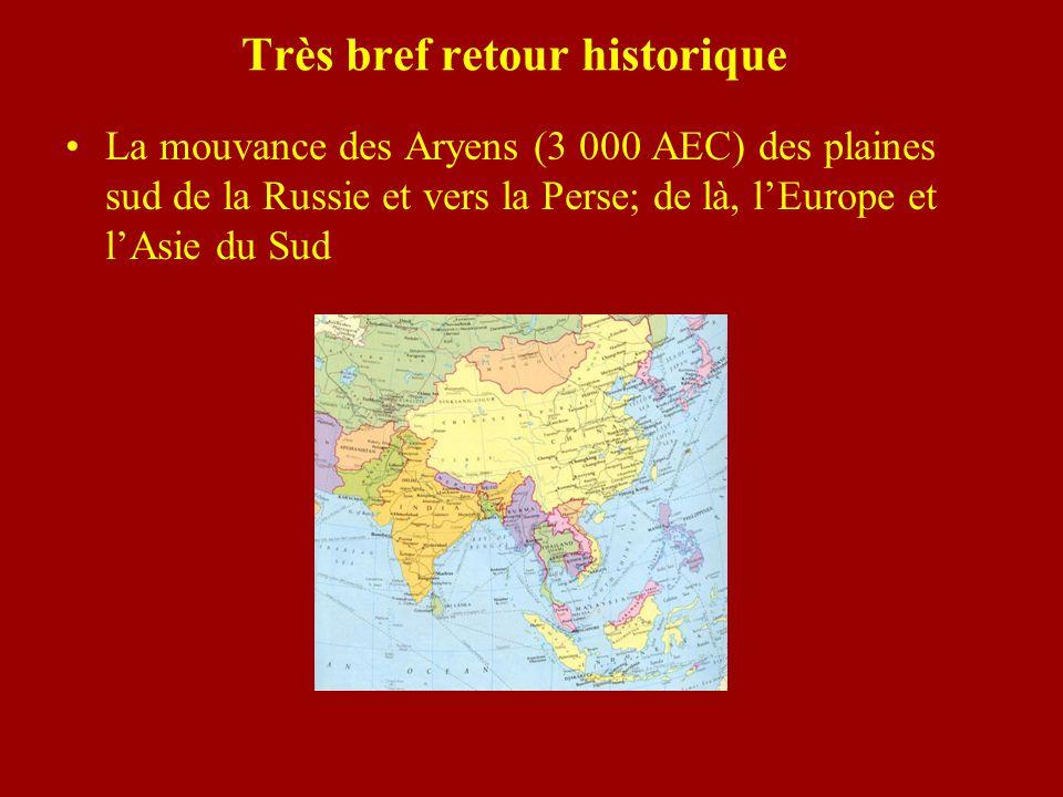 Les Aryens Un peuple nomade Se déplaçant avec leurs troupeaux Entrent en « Inde » vers 1500 AEC.