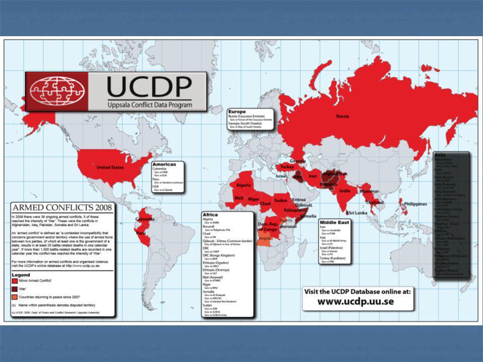 Nombre de conflits par région (1946- 2006) Source: Uppsala Universitet http://www.pcr.uu.se/research/UCDP/graphs/charts_and_graphs.htm