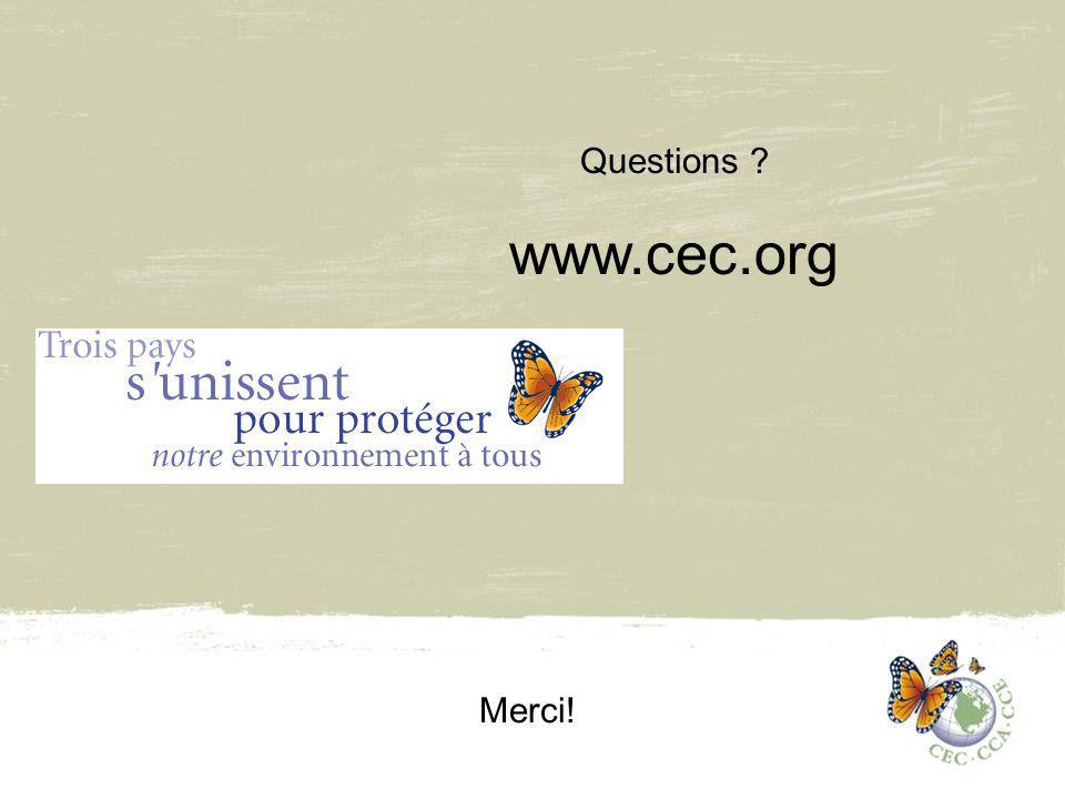 Questions www.cec.org Merci!