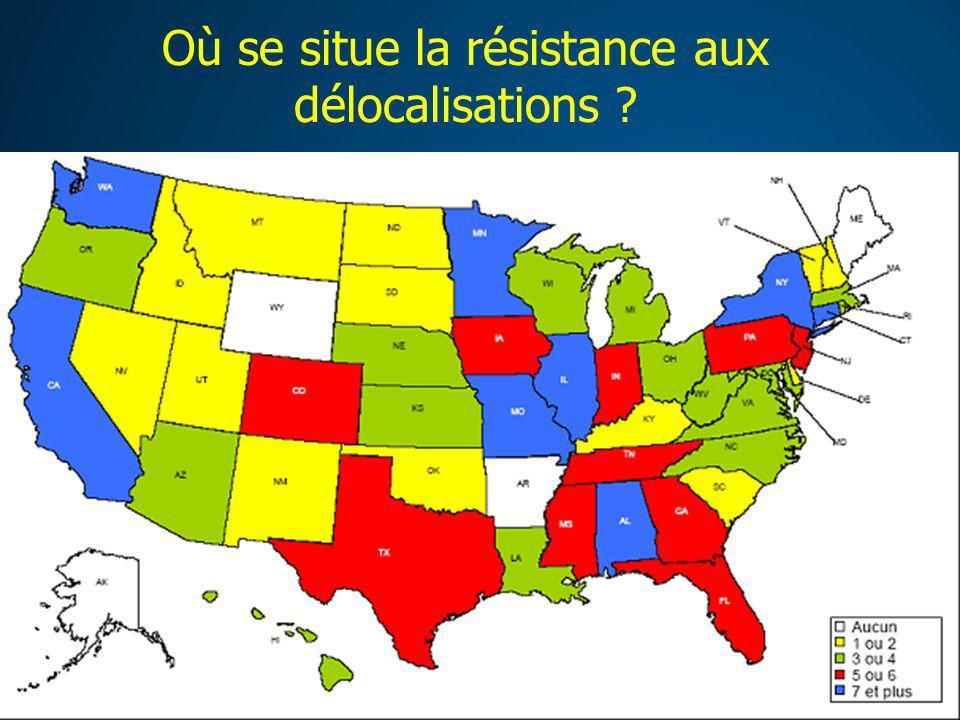 Où se situe la résistance aux délocalisations ?
