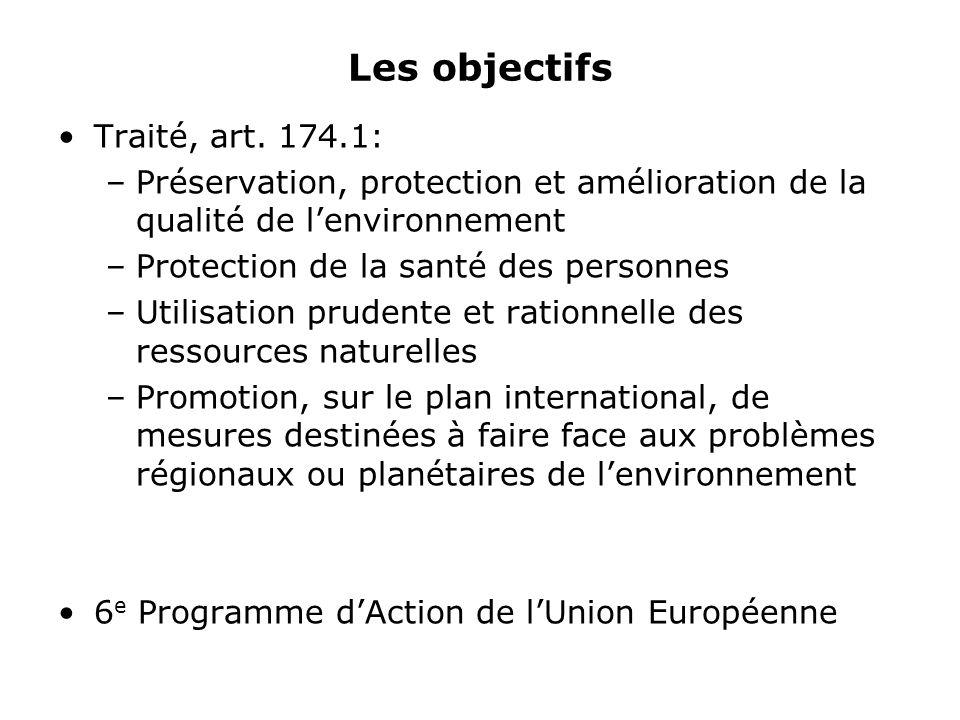 Les objectifs Traité, art.