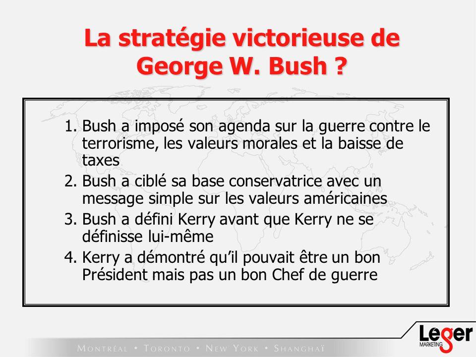 La stratégie victorieuse de George W. Bush .