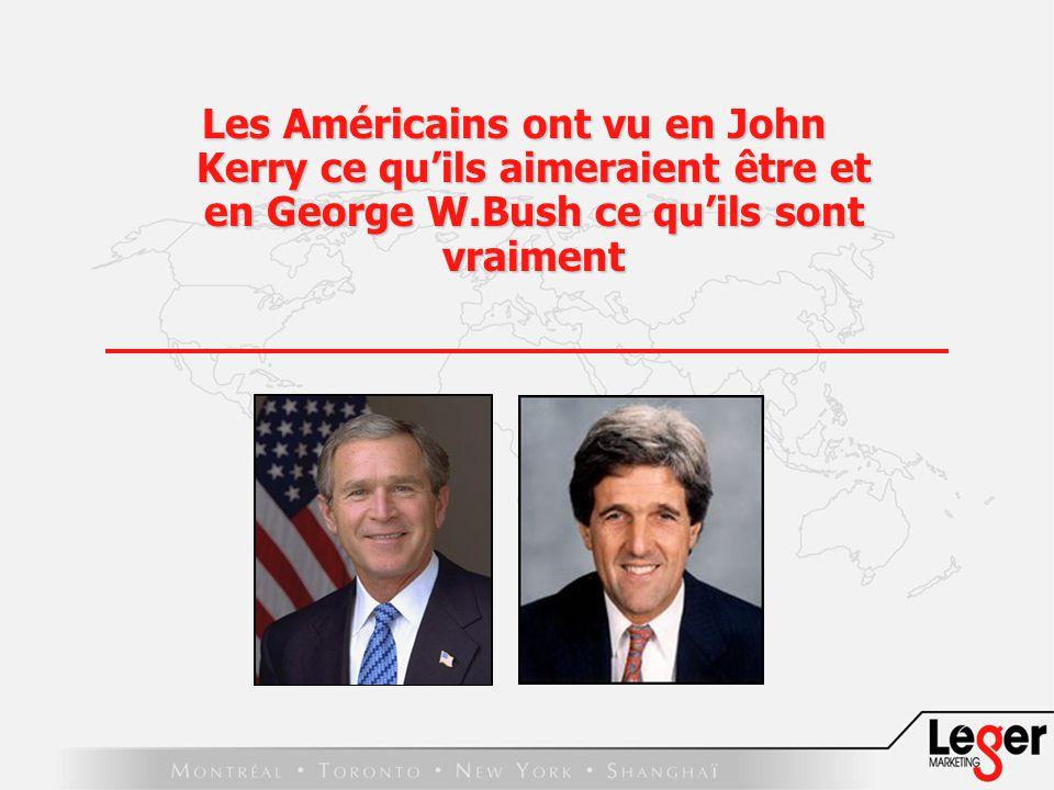 Les Américains ont vu en John Kerry ce quils aimeraient être et en George W.Bush ce quils sont vraiment